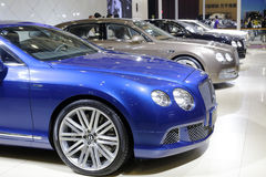 Blue bentley gt speed car Stock Photography