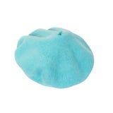 Blue beret isolated on white background Royalty Free Stock Photo