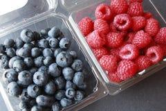 Blue berries rasberries Royalty Free Stock Image