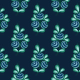 Blue berries seamless pattern stock natural background Royalty Free Stock Photos