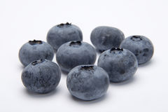 Blue berries. On white background Royalty Free Stock Photo