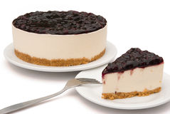 Blue berry cheese cakes Stock Photography