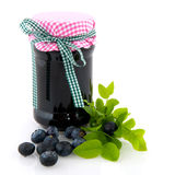 Blue berry jam Royalty Free Stock Photos
