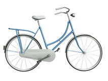 Blue bicycle. Isolated on white background. 3D render vector illustration