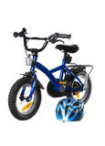 Blue bicycle Stock Image