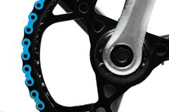Blue bicycle chain Royalty Free Stock Photo