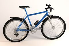 Blue bicycle - generic Royalty Free Stock Photo