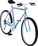 Blue Bicycle Illustration  Royalty Free Stock Photography