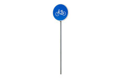 Blue bicycle movement sign Royalty Free Stock Photography