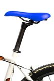 Blue bicycle saddle Royalty Free Stock Photography