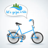 Blue bicycle. Stock Photo