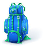 Blue big backpack for travel Royalty Free Stock Photography
