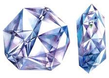Blue big diamonds Stock Photos