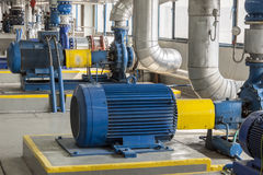 Free Blue Big Industrial Pump Royalty Free Stock Image - 75811836