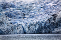 Blue Big Portage Glacier Anchorage Alaska Stock Photo