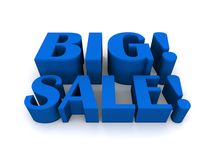 Blue big sale graphic Stock Photos