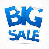 Blue Big Sale Sticker - Label Stock Image