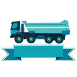 Blue big truck Stock Images