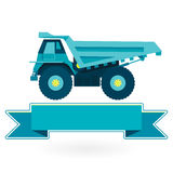 Blue big truck - icon Stock Images