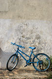 Blue bike Stock Image
