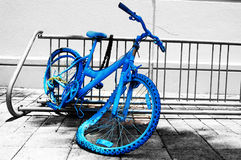 Blue Bike Royalty Free Stock Images