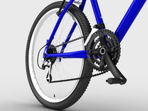 Blue bike Stock Images