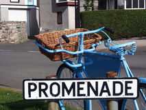 Blue bike Royalty Free Stock Image