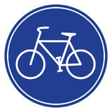 Blue bike icon. In vecto mode Royalty Free Stock Photo