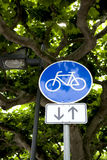 Blue bike icon Stock Images
