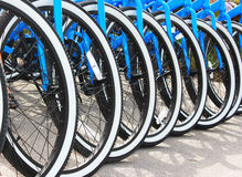 Blue Bikes Stock Image