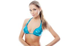 Blue bikini Royalty Free Stock Photo