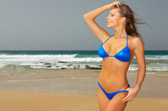 Blue Bikini Stock Photos