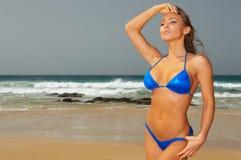 Blue Bikini Stock Images