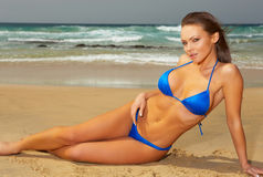 Blue Bikini Royalty Free Stock Image