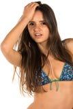 Blue bikini Stock Photography