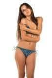 Blue bikini Stock Photos