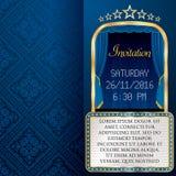 Blue billboard invitation Stock Photos