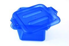 Blue bin Royalty Free Stock Photo