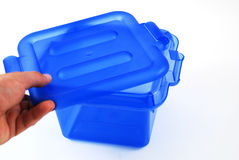 Blue bin Royalty Free Stock Photos