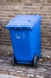 Blue bin Royalty Free Stock Photography