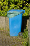 Blue bin. Stock Images