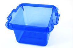 Blue bin Royalty Free Stock Image