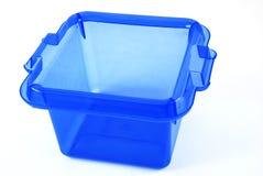 Blue bin Royalty Free Stock Image