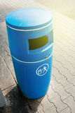Blue bin made from plastic Royalty Free Stock Photo