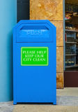 Blue Bin Stock Photo