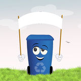 Blue bin for recycle Royalty Free Stock Images