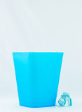 Blue bin Royalty Free Stock Photo