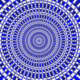 Blue binary circle abstract pattern background. Stock Image