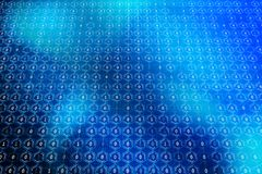 Blue binary code background. Abstract blue binry code background. Computing concept. 3D Rendering Stock Photo