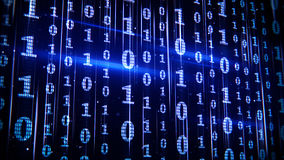 Blue binary code rows Royalty Free Stock Photography